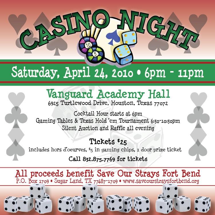 Casino night fundraiser houston restaurants near casino windsor