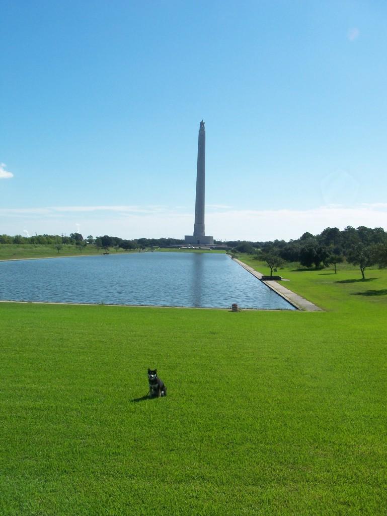 Kuma at monument