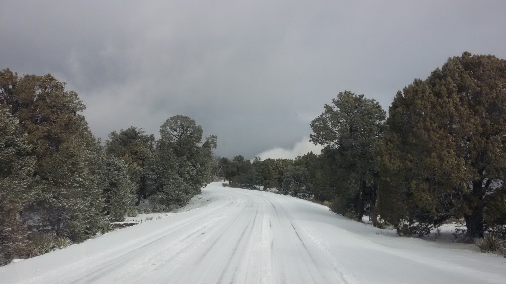Snowy roads at Canyon