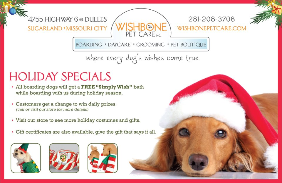 Wishbone Pet Care In Houston Offering Great Holiday Specials
