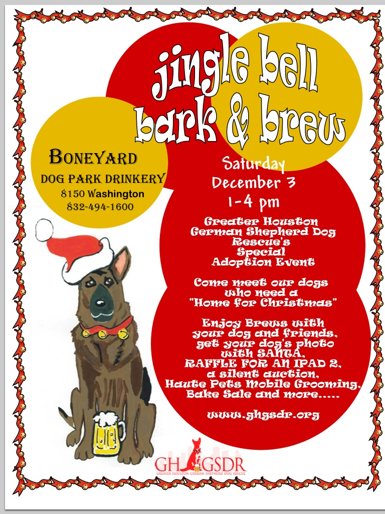 Jingle Bell Bark N Brew Dec 3 From 1-4
