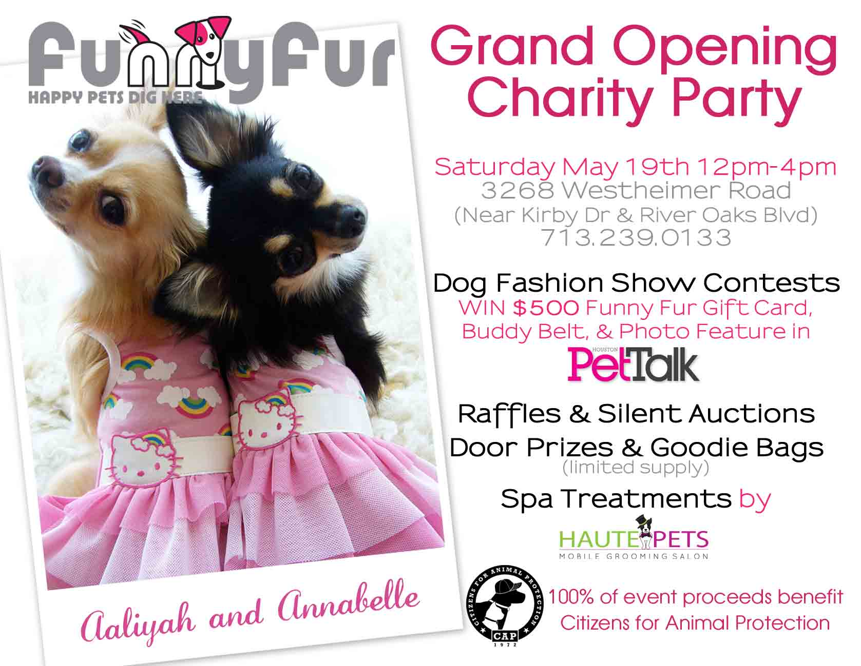 Grand Opening of Funny Fur May 19