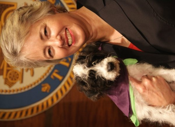 Mayor Parker Adopts BARC's Pet of the Week