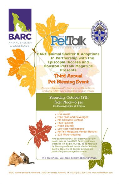 BARC & PetTalk Pet Blessing This Saturday!