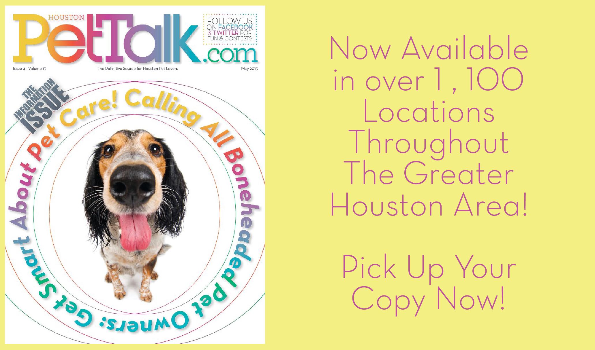 May 2013 Digital Issue of Houston PetTalk