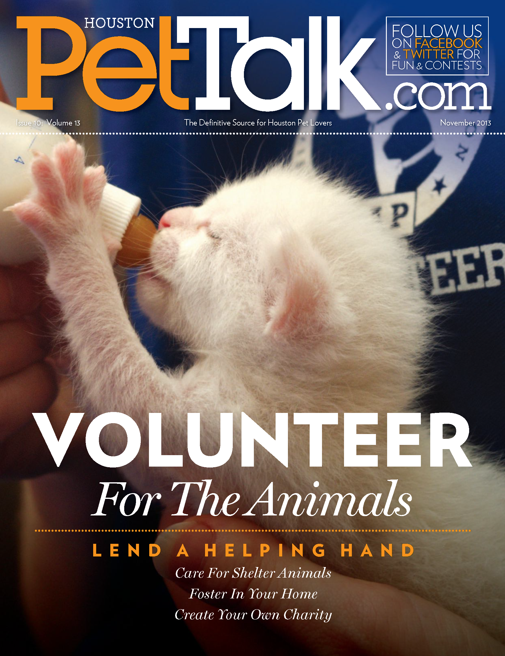 November 2013 Digital Issue of Houston PetTalk