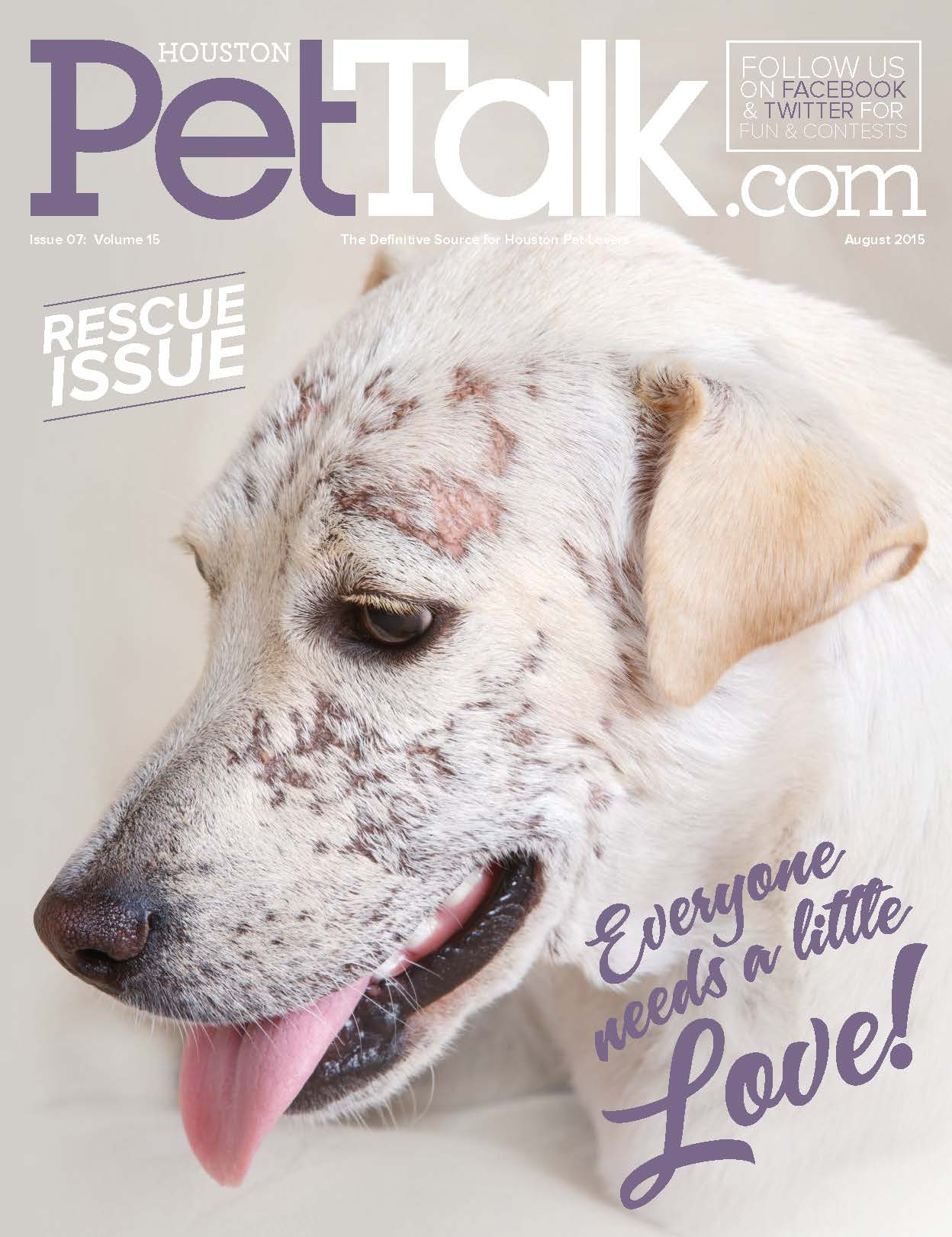 August 2015 Digital Issue of Houston PetTalk