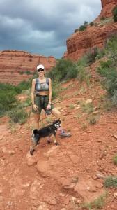 Mom and Kuma on trail