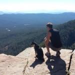 Steve and Kuma on overlook