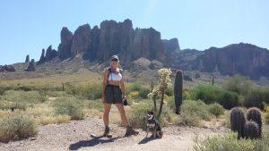 Lorraine and Kuma on trail