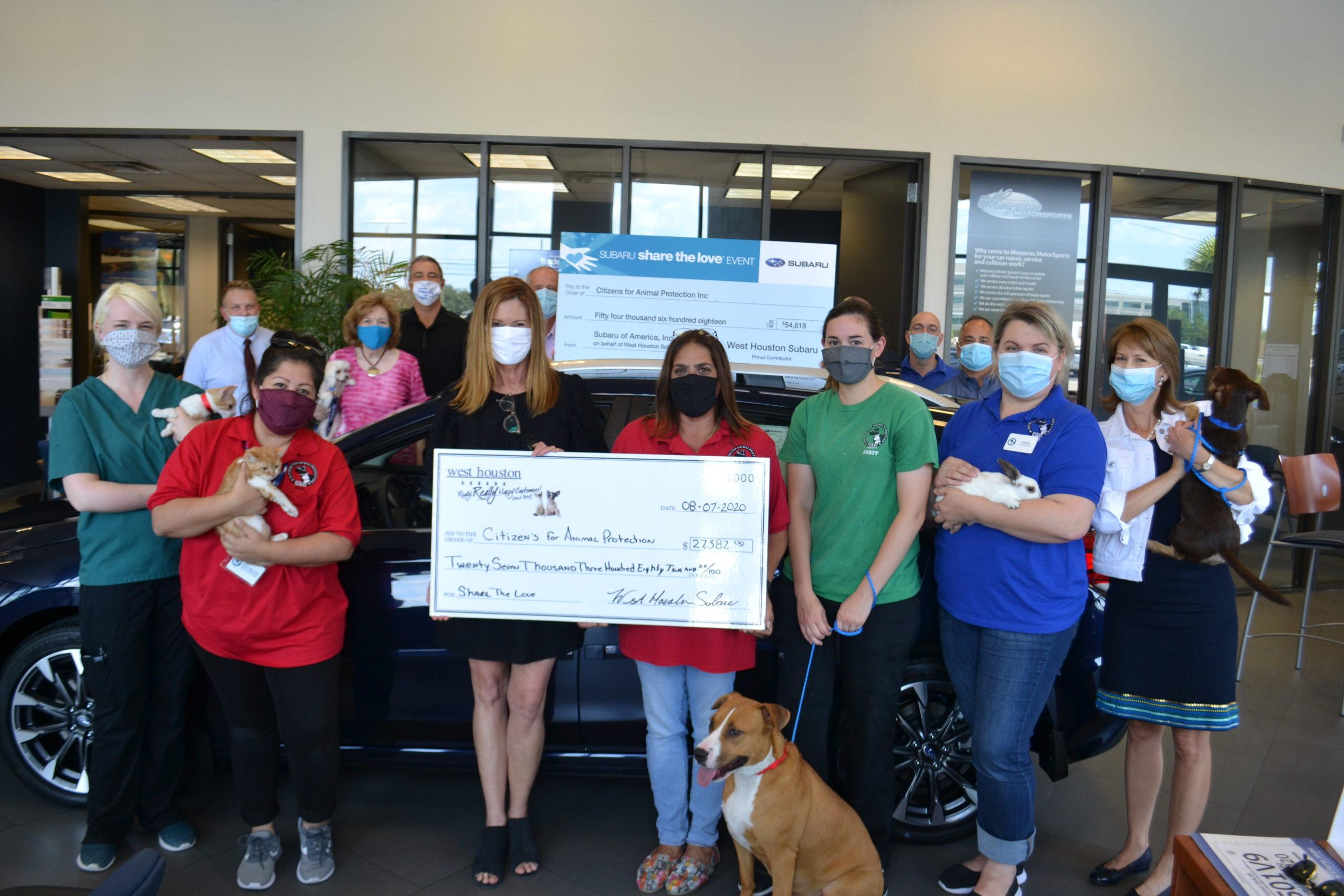 West Houston Subaru Helps Shelter Pets
